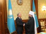 Состоялась встреча Митрополита Астанайского и Казахстанского Александра с Президентом Республики Казахстан Н.А. Назарбаевым