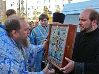 Курская-Коренная икона Божией Матери «Знамение» принесена в столицу Казахстана