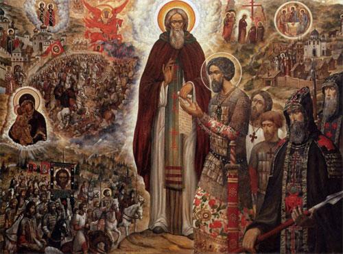 Икона «Святые Сергий Радонежский и Дмитрий Донской» | Фото с сайта vidania.ru