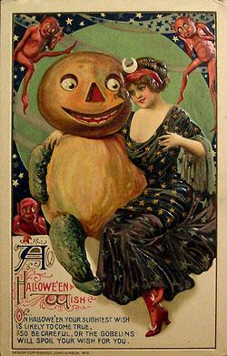 Открытка, посвященная Хэллоуину 1912 г.