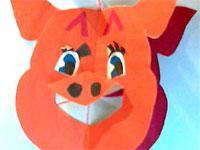 """Урок труда: «Работа с бумагой. Изготовление новогодней игрушки поросёнок """"Хрюша""""»"""