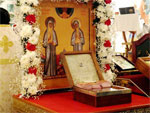 Встреча мощей святых преподобномучениц Великой княгини Елисаветы и инокини Варвары
