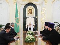 Патриарх Кирилл принял делегацию из Казахстана