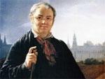Василий Тропинин В. Тропинин. Автопортрет с кистями с видом на Кремль. 1844 (фрагмент картины)