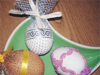 Как украсить яйца к Пасхе