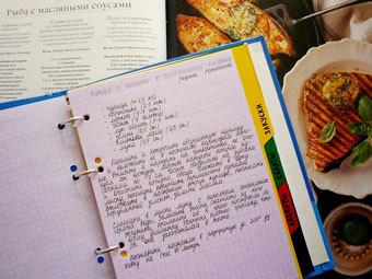 Тетрадь с рецептами. Фото с сайта tufted-ears.livejournal.com