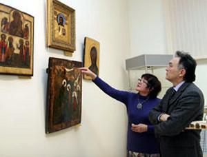 В Астане открылась выставка икон из частных собраний