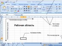 Тема занятия: «Общие сведения о Microsoft Excel»