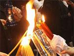 Благодатный огонь сошел в храме Гроба Господня в Иерусалиме | © РИА Новости. Михаил Фомичев